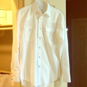Wrangler white pearl snap shirt